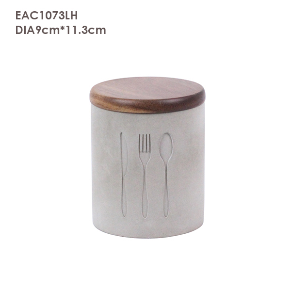 Glass Seal Tins/ Canister/Jars/ Cans with Bamboo Lid on Sale with Logo Printed