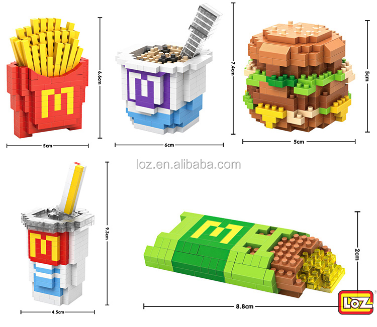 LOZ funny block brick toy plastic educational connecting blocks for kids