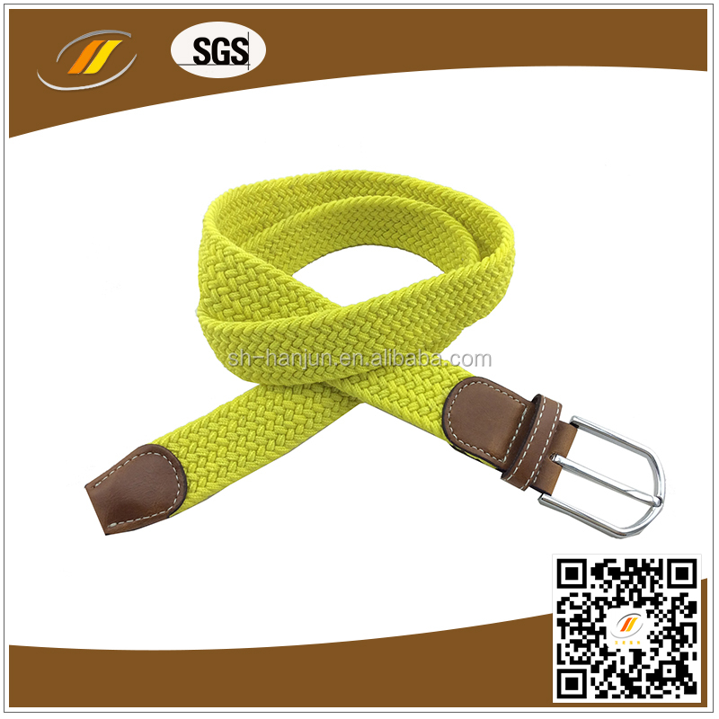 Adventure Yellow Men's Braided Stretch Belt