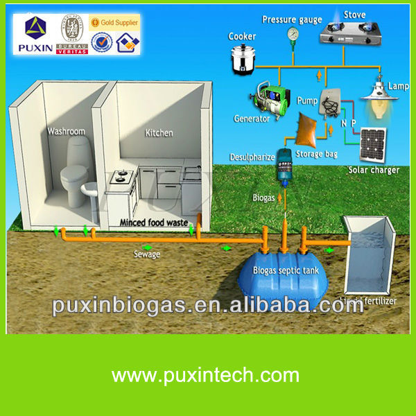 Puxin Cheap Household Biogas Septic Tank