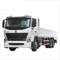 Transportation road trucks 6x4 driving HOWO A7 cargo truck for sale
