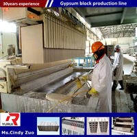 technology-leading hydraulic concrete block building machine/light weight gypsum block production line