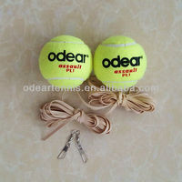 Elastic tennis ball with elastic rubber string, training tennis ball