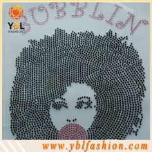 Hot Fix Rose Stone Afro-girl-rhinestone-Transfer Design