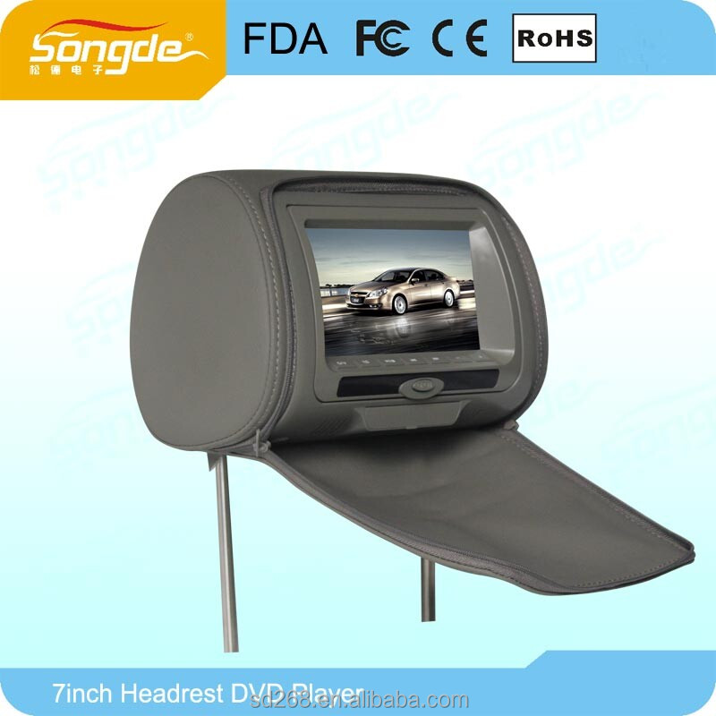 Headrest Car Dvd With 16:9 Lcd Monitor Good Quality