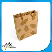 customized recycled grocery brown kraft paper bag 2016
