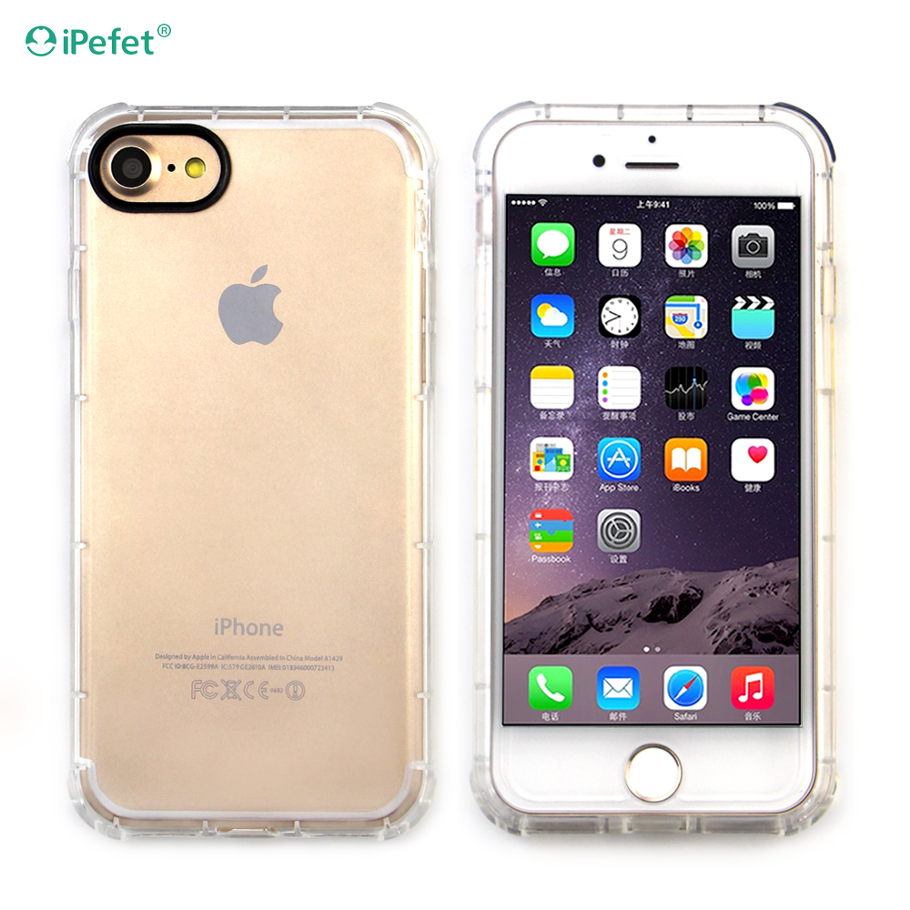Ultra Thin Soft TPU Gel Original Transparent Crystal Clear Silicon Back Cover Phone Bags Case for iPhone 7