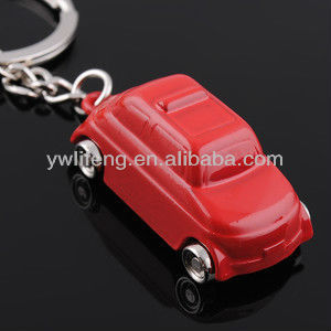 metal car shaped key ring custom keychain