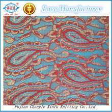 Lurex African Lace Fabric for Dress