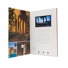 Laser Cut Paper Craft LCD Screen Electronic Video Greeting Card for Invitation