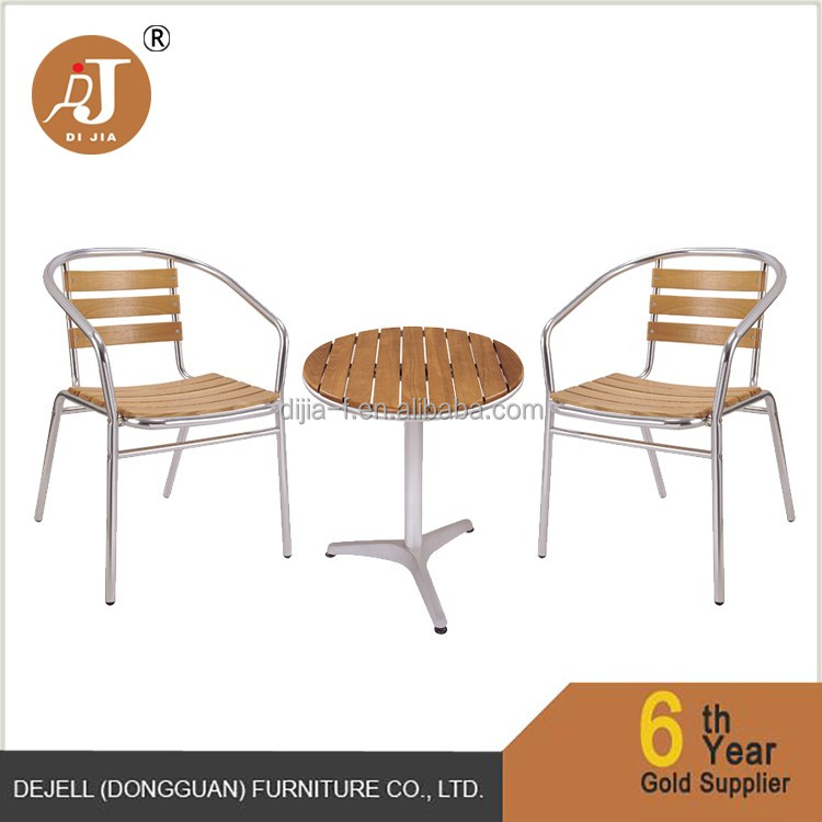 Anti Water Outdoor Indoor Use Aluminium Garden Bistro Table and Chairs