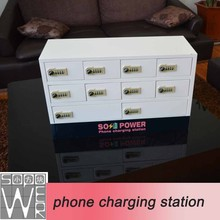 Sopower 10-door phone charging station all in one mobile phone charger
