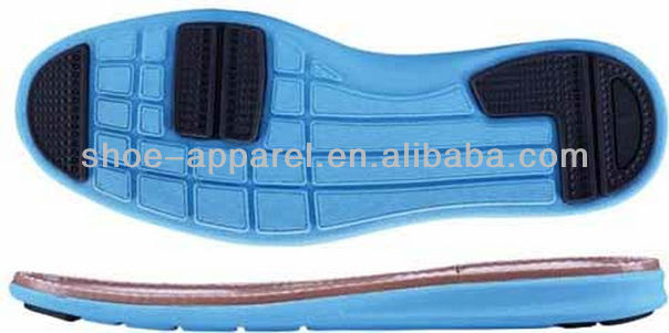 2013 EVA and Rubber Casual Running Sole Running Sole for Shoe Making