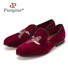 red bird embroidery men dress shoes