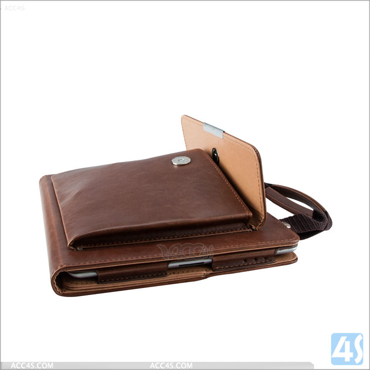Fashional leather hand bag for ipad 4 case with strap, case for ipad 4 5 6