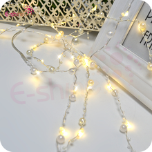 30 Pearl Beads LED Warm White String Fairy Lights -Christmas Wedding Battery Operated