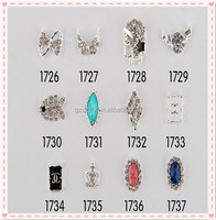 Best Selling Nail Art Accessories Bow Tie Fish Cosmetic Crown 3D Alloy Nail Decoration