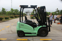 Price New China Small Electric AC Type 2.5T Battery Forklift Truck With Solid Tire