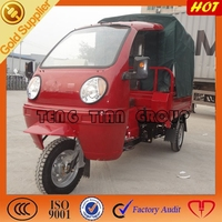 three wheel motorcycle/two headlights tricycle with canvas cover/gasoline 3 wheelers motorcycle