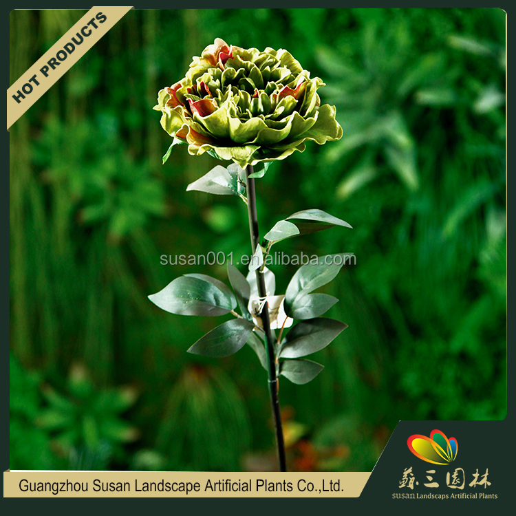 China wholesale artificial PU soft touch fake peony flower for wedding decoration