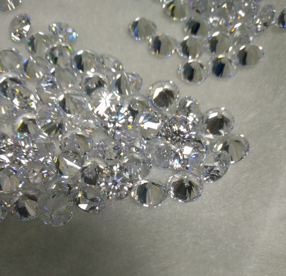 Wholesale price white round star cut cubic zirconia AAAAA in loose gemstone