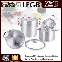 New product common aluminum steamer with glass lid in china