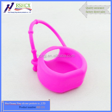 Hand-held nail polish bottle silicone Drop resistance holder