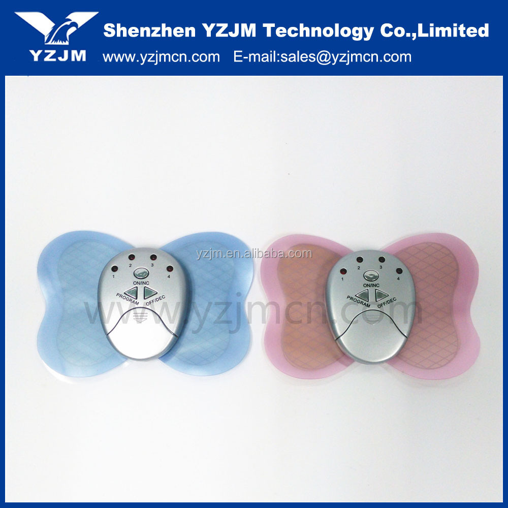 Butterfly Design Body Muscle Massager Electronic Mini Slimming Massager For Relax