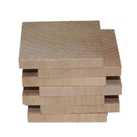"2"" Unfinished Wood Squares, Cut Out Square, Wood Pieces DIY Craft Wood Tiles 50pcs"