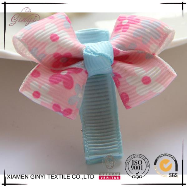 Made in china polyester lovely bow baby japanese hair clips
