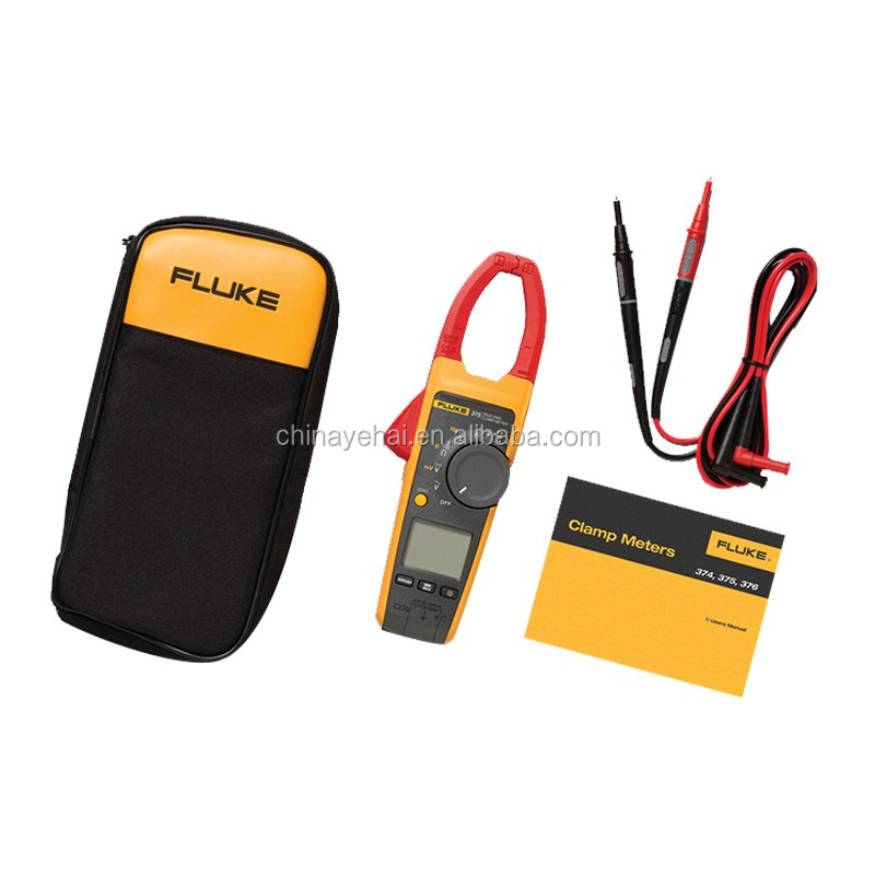 Digital True-RMS 1000A AC/DC Clamp Meter Fluke 376 Handheld