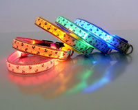 Safety Luminous Glow Pet Dog LED Collar Safety necklace Flashing Lighting Up with size S M L XL