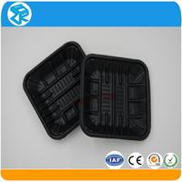 clamshell disposable plastic divided fast food tray for food