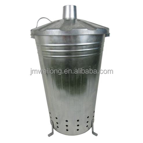 Small / Medium / Large Garden Fire Bin Incinerator Galvanised Ideal for burning Wood / Leaves / Paper 90 Litre Fast Burner
