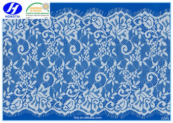 China factory fashional nylon spandex lace trim beaded lace fabric for dress decoration