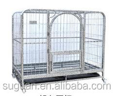 Chrome plated large metal dog house/Galvanized Steel Dog Kennel