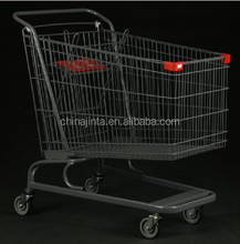 shopping trolley with child seats