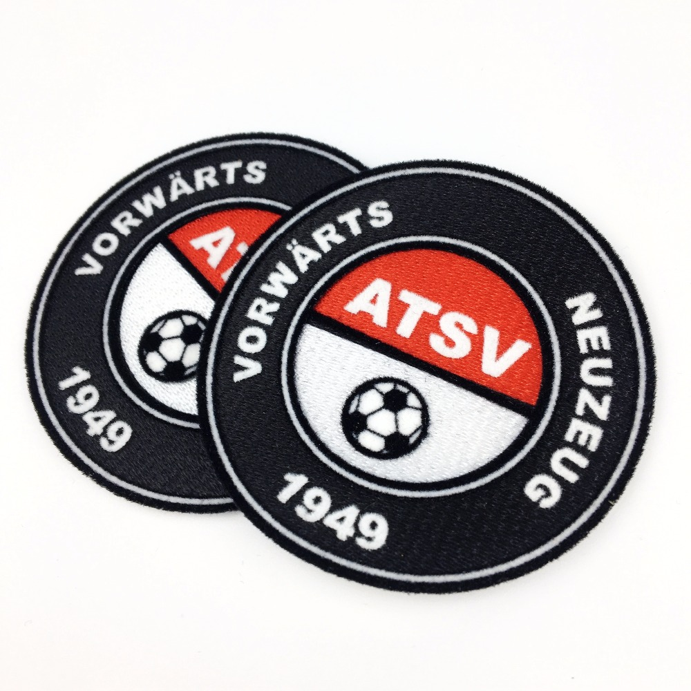 custom iron on soccer patch 3d flock for clothes