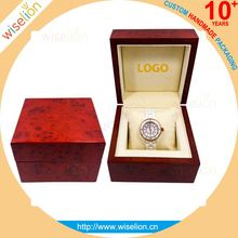 Customized handmade wooden MDF fashion watch box for watch pack