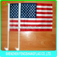 Different 100% polyester holiday decorative car national flags with holder