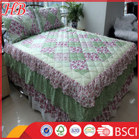 2016 Fashion Design 100% polyester High Quality service Strict Inspection Different Style colorful patchwork quilt