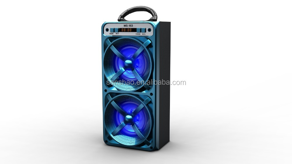 On Sale Fashionable Led Flashing Light Speaker Bluetooth Music Player MS-163BT