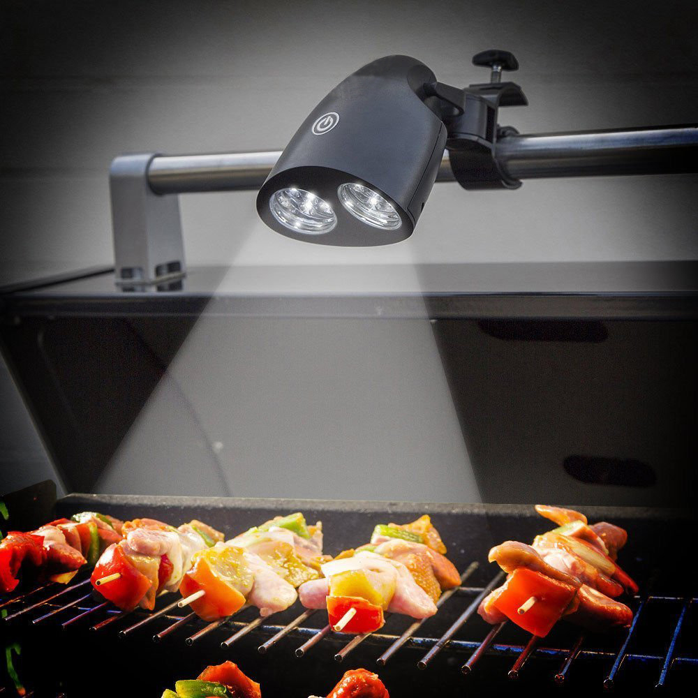 double grill light for bbq outdoor barbecue lighting grill. Black Bedroom Furniture Sets. Home Design Ideas