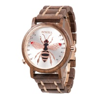 Luxury branded natural wood band men's casual businessd smart wooden watch charming style