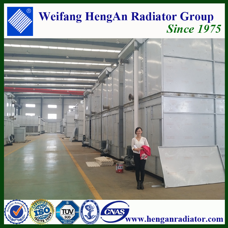 Ice block ammonia evaporative condenser for ice cream factory