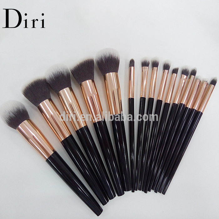 2016 private label 15pcs synthetic kabuki makeup brush with acrylic handle