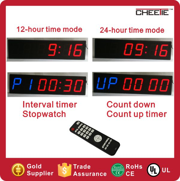 Free Shipping Two Color Display 6 Digit Programmable Crossfit Digital Timer in Super September Purchasing