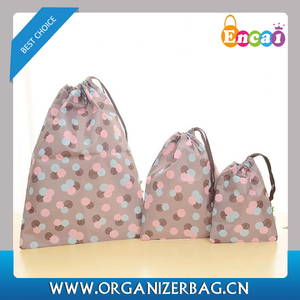 Encai Floral Arrangement Organizer Pouch Set For Luggage Travel 3pcs/set Clothing Storage Drawstring Bag