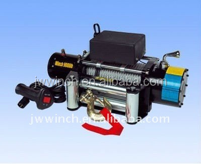 JW Electric Winch Pulling Tools with synthetic rope 9000Lbs