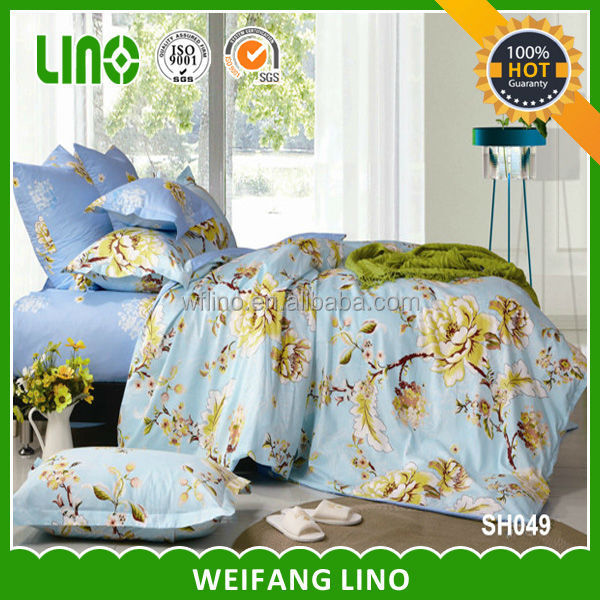 pigment printed cotton match duvet and curtain/quilt cover set/uk import of bed sheet